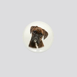Brindle Boxer Mini Button