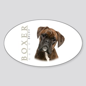 Brindle Boxer Sticker (Oval)