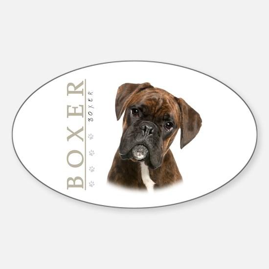 Brindle Boxer Sticker (Oval)
