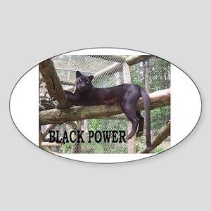 Black Power Sticker (Oval)