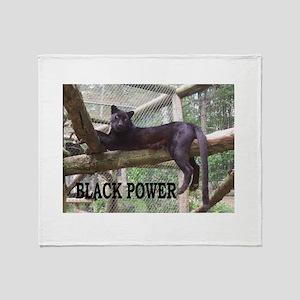 Black Power Throw Blanket