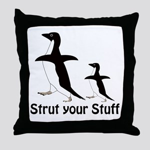 Strut Your Stuff Throw Pillow
