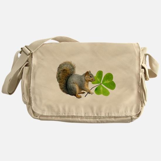 Shamrock Squirrel Messenger Bag