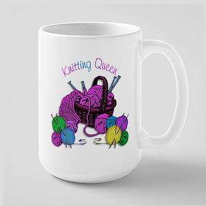 Knitting Queen Large Mug