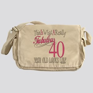 40th Birthday Gifts Messenger Bag
