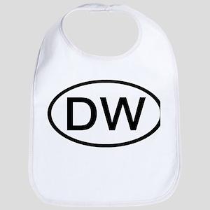 DW - Initial Oval Bib