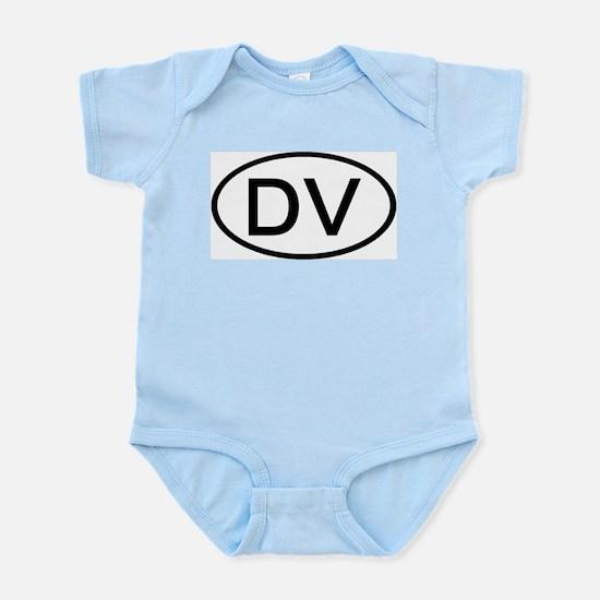 DV - Initial Oval Infant Creeper