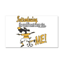 Future Soccer Player Car Magnet 20 x 12