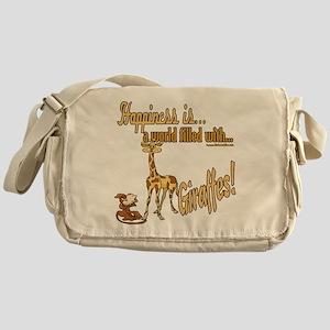 Happiness is a giraffe Messenger Bag