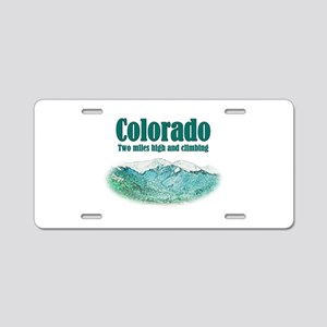 Colorado 2 Miles High Aluminum License Plate