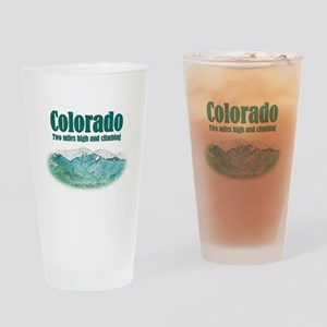 Colorado 2 Miles High Drinking Glass