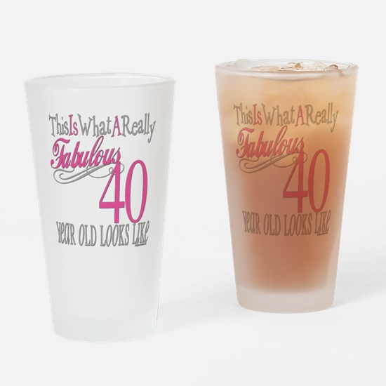 40th Birthday Gifts Drinking Glass