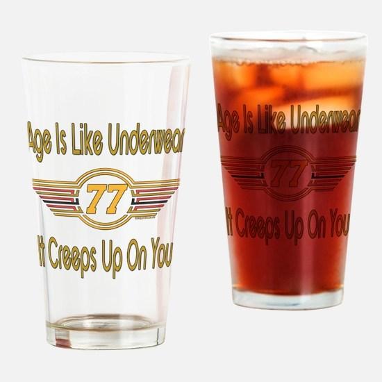 Funny 77th Birthday Drinking Glass