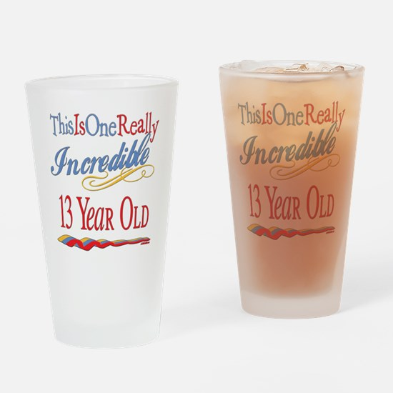 Incredible At 13 Drinking Glass