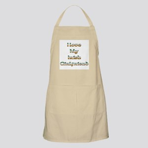 I Love My Irish Girlfriend BBQ Apron