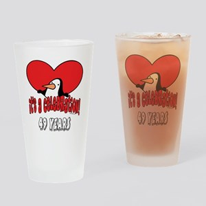 49th Celebration Drinking Glass