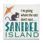 Sanibel Rat Race - Tile Coaster