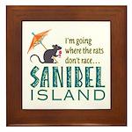 Sanibel Rat Race - Framed Tile