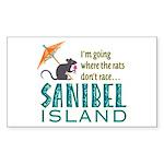 Sanibel Rat Race - Sticker (Rectangle)