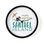 Sanibel Rat Race - Wall Clock