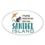 Sanibel Rat Race - Sticker (Oval)