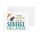 Sanibel Rat Race - Greeting Card