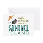 Sanibel Rat Race - Greeting Cards (Pk of 20)