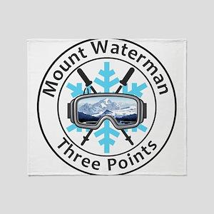 Mount Waterman - Three Points - Ca Throw Blanket