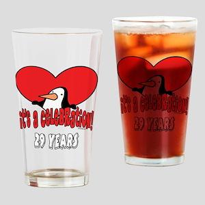29th Celebration Drinking Glass