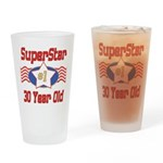 Superstar at 30 Drinking Glass