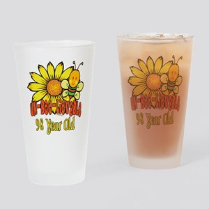 Un-Bee-Lievable 98th Drinking Glass