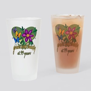 Beautiful 99th Drinking Glass