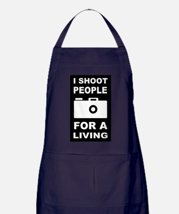 I Shoot People For A Living Apron (dark)