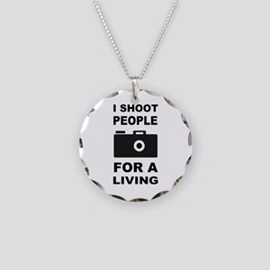 I Shoot People For A Living Necklace Circle Charm