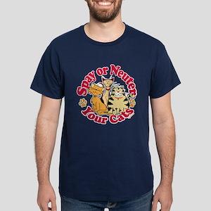 Spay/Neuter Circle (Cats) Dark T-Shirt