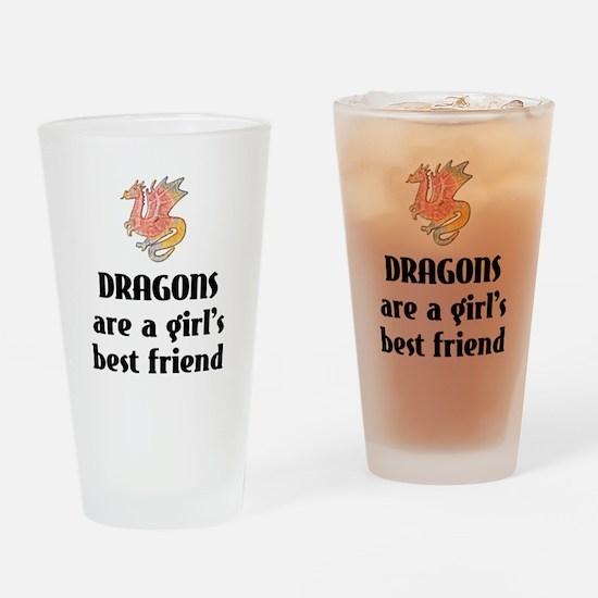 Dragon Girl Drinking Glass