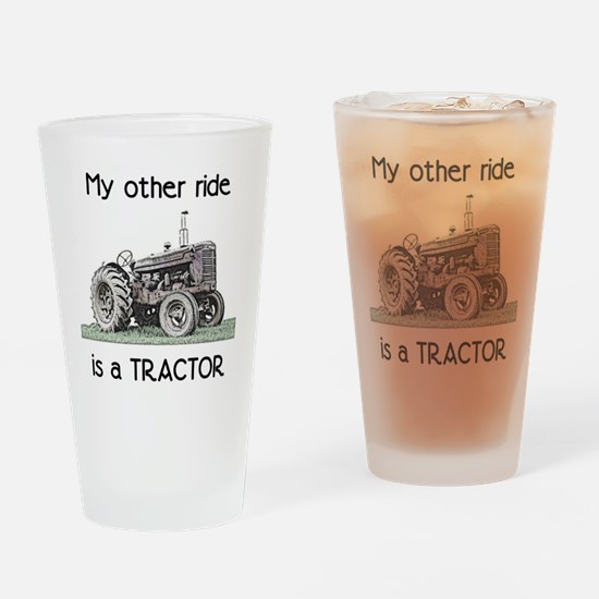 Ride a Tractor Drinking Glass