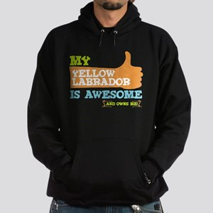 Awesome Yellow Labrador Hoodie (dark)