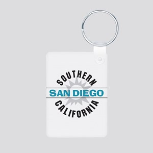 San Diego California Aluminum Photo Keychain