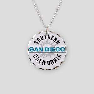 San Diego California Necklace Circle Charm