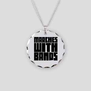 Marches with Bands Necklace Circle Charm