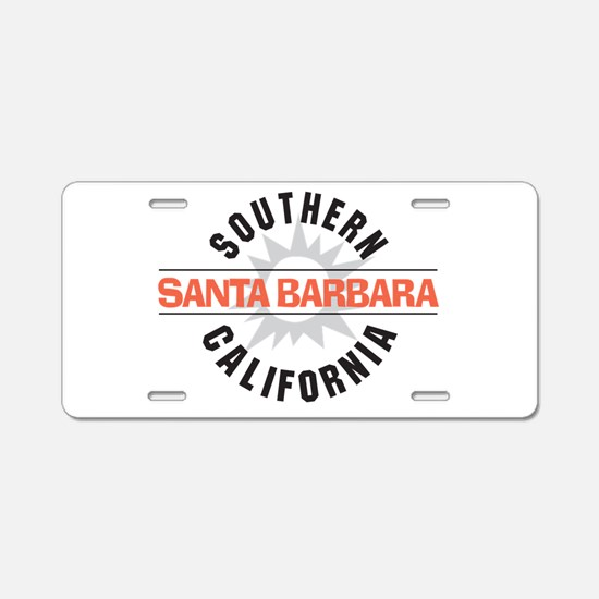 Santa Barbara Aluminum License Plate
