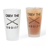 Obey the Oboist Drinking Glass