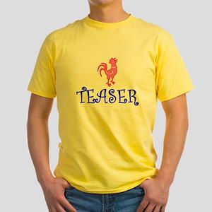 COCK TEASER - OK? Yellow T-Shirt