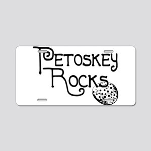 Petoskey Rocks Aluminum License Plate