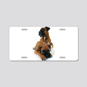 Boxers 2 Aluminum License Plate
