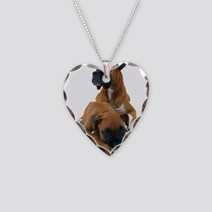 Boxers 2 Necklace Heart Charm