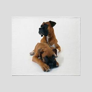 Boxers 2 Throw Blanket