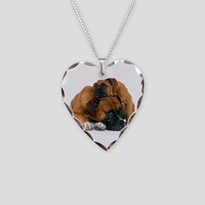 Boxer 3 Necklace Heart Charm