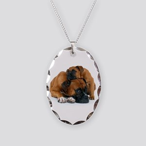 Boxer 3 Necklace Oval Charm
